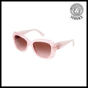 VERSACE POP CHIC PINK STRIPED SUNGLASSES